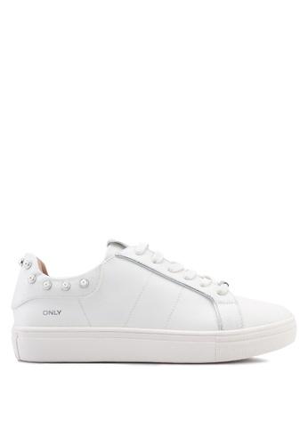 ONLY 白色 珍珠運動鞋 AF237SH29F17A8GS_1