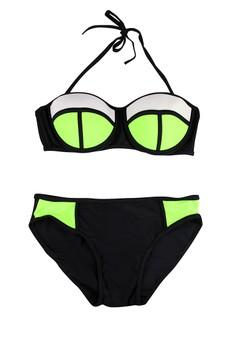 Patchwork Two Piece Bikini UV Protect Swimwear