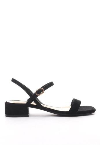 Twenty Eight Shoes 黑色 雙帶涼鞋3376-15 01BFDSHA79BB5DGS_1