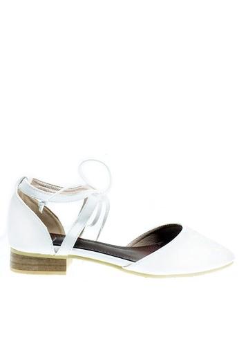 Twenty Eight Shoes white Ankle Strap Ballet Flats 329-32 TW446SH27RDGHK_1