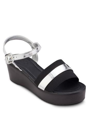 Glyn 彈性寬帶esprit高雄門市繞踝楔型鞋, 女鞋, 鞋