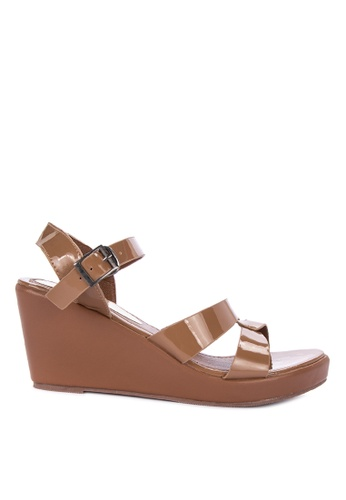 be41849cffd Shop Huxley Haylla Ankle Strap Wedges Online on ZALORA Philippines