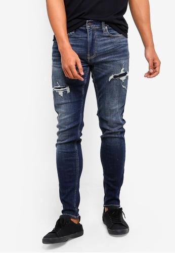 Hollister 海軍藍色 緊身牛仔褲 C71A0AAEC18270GS_1