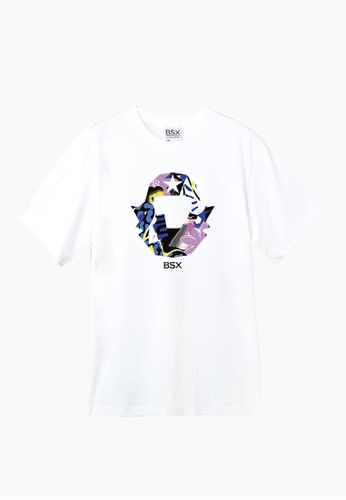 BSX white BSX Unisex's regular fit printed logo tee (Online exclusive) (0409029863) E7CCEAADAE6AA6GS_1