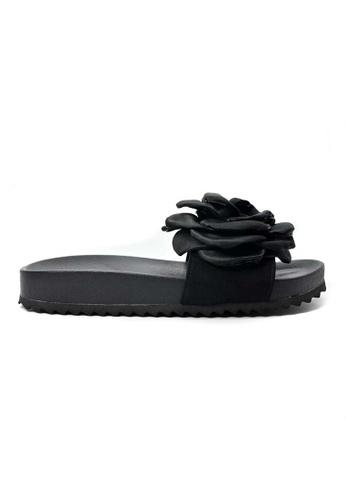 BNC black Rose Slide Sandal E3F0CSH15B3C74GS_1