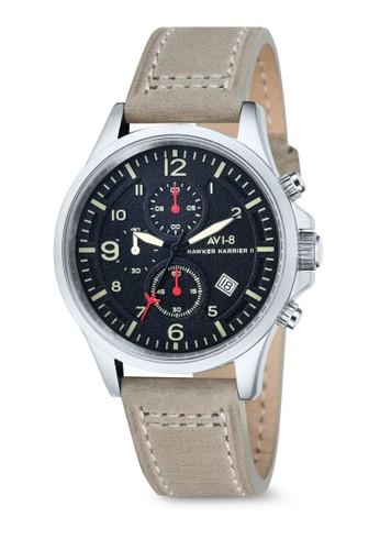 Hawker Harrier II 多功能皮esprit暢貨中心革手錶, 錶類, 計時型
