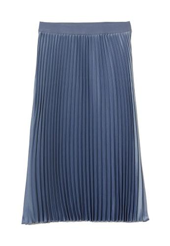H&M blue Pleated Skirt DB8DDAA535E969GS_1