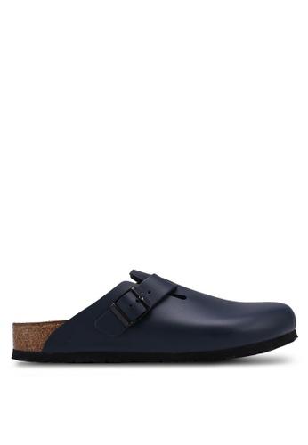 Birkenstock blue Boston Smooth Leather Sandals DD4FASH6FAE625GS_1