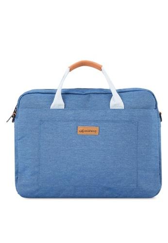 Bagstationz blue Premium 2-Way 15.6 inch Laptop Bag BA607AC66YIFMY_1