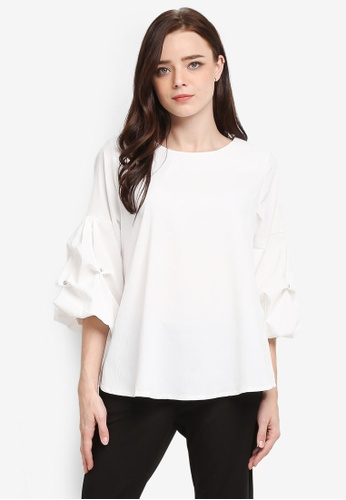 BYN white 3/4 Sleeve Blouse 4FD3BAA8B8F1E8GS_1