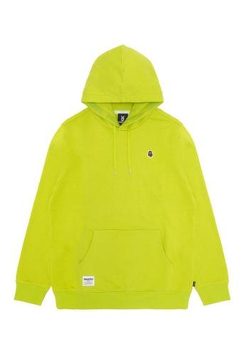 Fingercroxx green Bigfoot badge hoodie D24E8AA0F71022GS_1