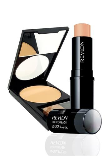 Revlon beige Revlon PhotoReady Insta-Fix™ Makeup 160 Medium Beige 6.8g + Revlon PhotoReady™ Powder 020 Light/ Medium 7.1g RE737BE14CXXSG_1
