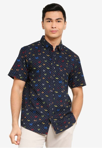Brave Soul multi and navy Short Sleeves Button Through Shirt ACFC3AABF3A631GS_1
