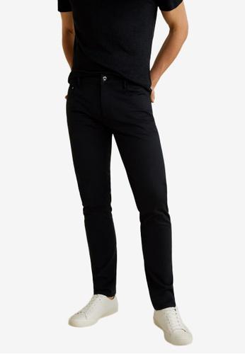 Mango Man 黑色 Slim-Fit 5 Pocket Cotton Trousers A2DFBAA63143F8GS_1
