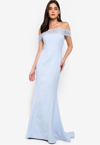 JARLO LONDON blue Nara Dress 2E60FAAFE9A991GS_1