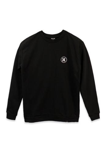 Hurley black Sweatshirts with Print 4AFA6AA58C375BGS_1