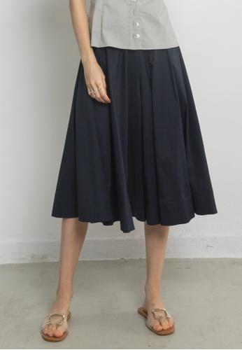 TAV navy [Korean Designer Brand] Wide Cotton Culottes - Navy 9AD9EAAC3EB4A2GS_1