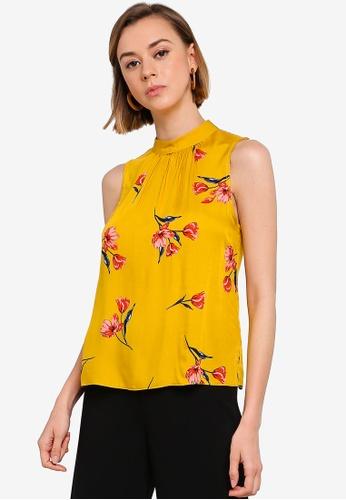 399a0a1ced Dorothy Perkins orange Petite Yellow High Neck Floral Print Top  15CA5AA8FD79E6GS_1