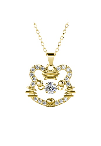 Her Jewellery gold 12 Dancing Zodiac Pendant (Tiger) YG - Made with premium grade crystals from Austria 025D3AC9C6AB42GS_1