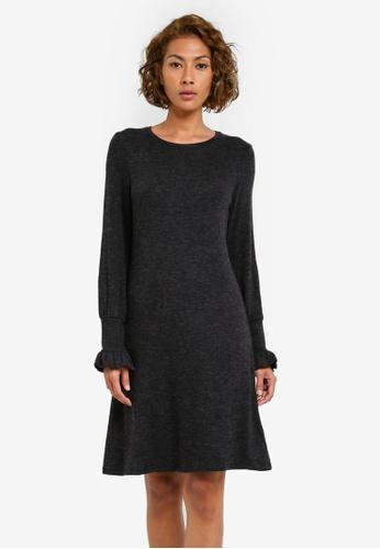 Dorothy Perkins grey Grey Ruched Cuff Swing Dress DO816AA0S094MY_1