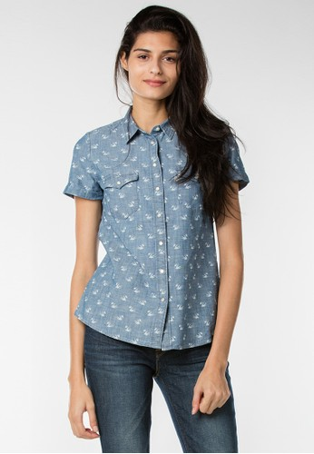 Levi's Tailored Classic Western Shirt - Cardamom Chambray Discharge