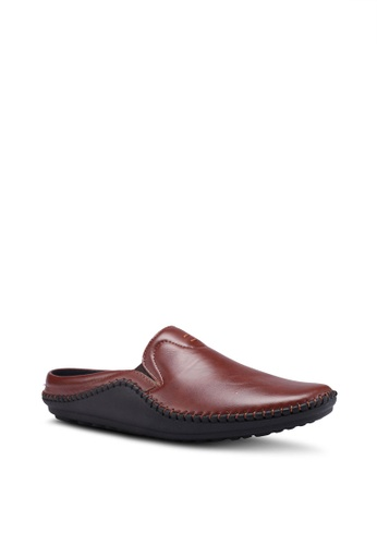 Bata brown Slide-On Loafers CC030SH0F3FB32GS_1