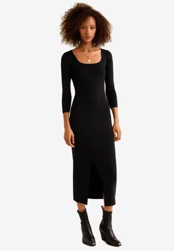c7064f6bec58 Buy Mango Ribbed Midi Dress | ZALORA HK