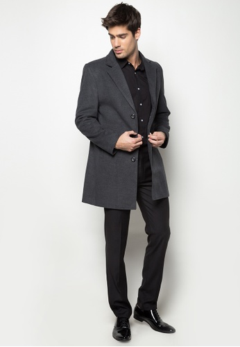 b0094d04b Shop Well Suited Wool Trench Coat with Detachable Hood and Front Layer  Online on ZALORA Philippines