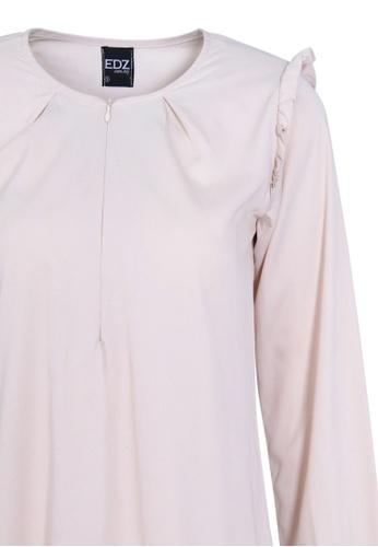 cb5bbe1f1a5b8b Buy EDZ EDZ Adele Ruffle Soft Cotton Blouse in Moon Beam Ivory Online