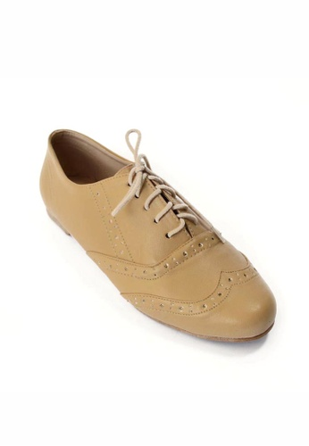 HDY beige Faith Oxford Shoes HD484SH62FCVPH_1