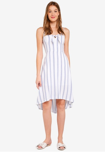 Hollister white Tie Fron Midi Dress C661CAA7924ABFGS_1