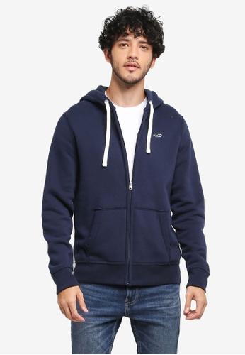 Hollister navy Brand Icon Zip Hoodie E2054AA9AA9E78GS_1