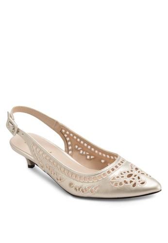 雕花繞踝尖頭低跟鞋,esprit衣服目錄 女鞋, 鞋