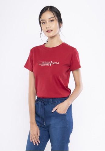 Geela red Be Strong Geela T-Shirt 2B783AA16E69B3GS_1