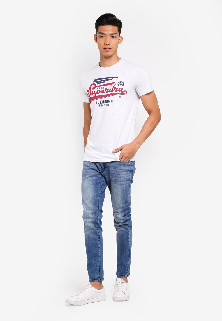 Ice Marl Tee High Superdry Duo Flyers 4wBnCqS