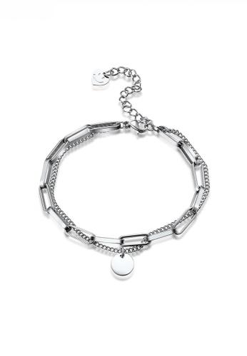 HAPPY FRIDAYS Titanium Steel Double Chain Design Bracelet JW QF-SL049 82654AC634C890GS_1