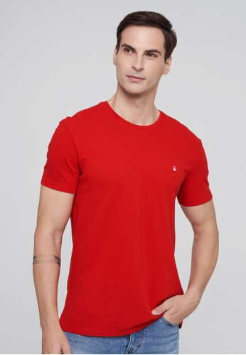 United Colors of Benetton red Basic T-shirt 284ADAA87A1289GS_1