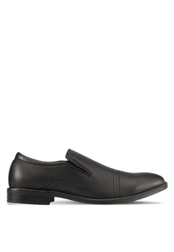 Knight black Slip On Dress Shoes KN875SH0S9RMMY_1