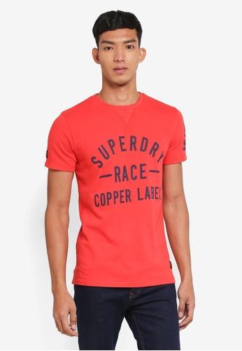 Superdry red Copper Label Café Race Tee F0D18AAAA99EDBGS_1