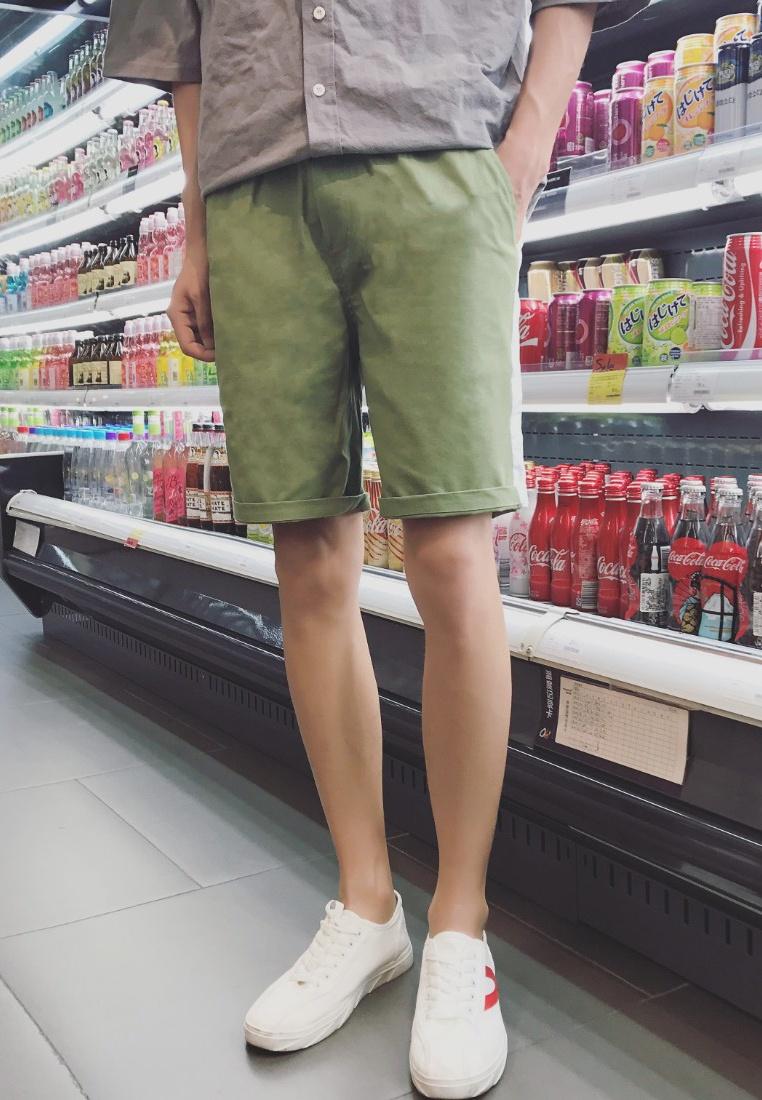 ehunter Shorts hk green Men Embroidery qF5x1wnt