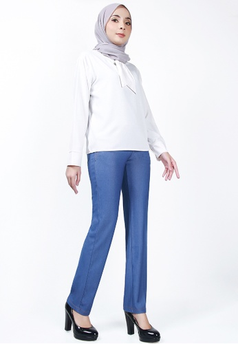 Ladies Jeans blue Plus Size Cotton Denim Trousers 85097AADF904A4GS_1