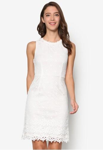 鉤針蕾絲無袖迷你連身裙,esprit 品牌 服飾, 服飾