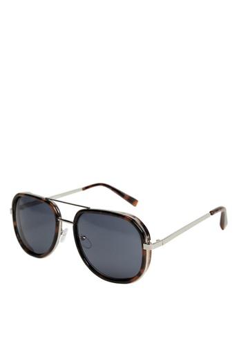 Mango Man brown Metal Bridge Sunglasses 9F937GL06A5CCCGS_1