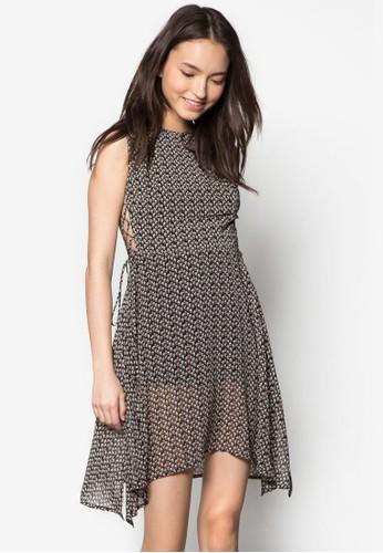 碎花繫帶無袖洋裝, 服zalora taiwan 時尚購物網鞋子飾, 服飾