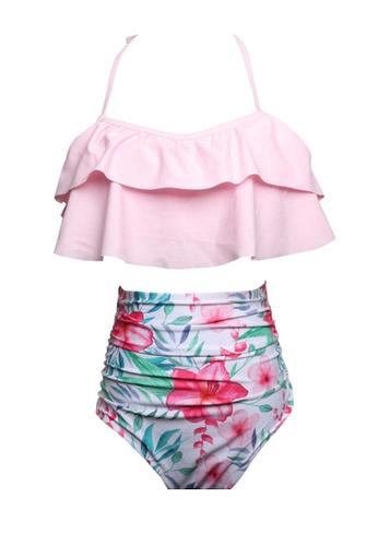 Twenty Eight Shoes pink VANSA Ruffle Bikini Parent-child Swimsuit VCW-Sw01801A F72A8US4131578GS_1
