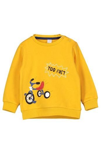 LC Waikiki yellow Baby Boy's Printed Sweatshirt 8137AKAA13D026GS_1