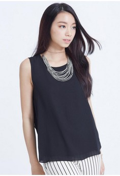 [IMPORTED] Refined Beauty Chiffon Top - Black