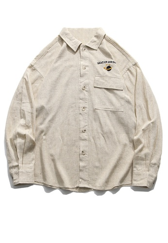 Twenty Eight Shoes Vintage Embroidered Pocket Long Shirt HH0913 5BB83AAC3AFEECGS_1