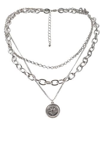 Pieces silver Ninka Combi Necklace 38BA3AC89A1614GS_1