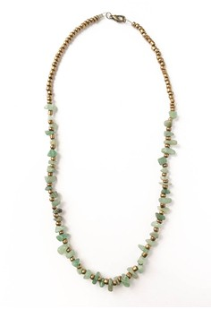 Bohemian Jade Beaded Necklace